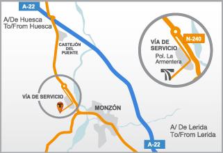 Mapa TIM Terminal Intermodal Monzón
